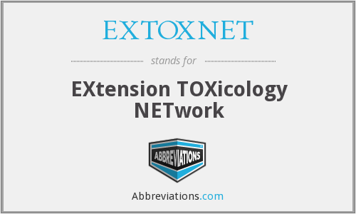 EXTOXNET - EXtension TOXicology NETwork
