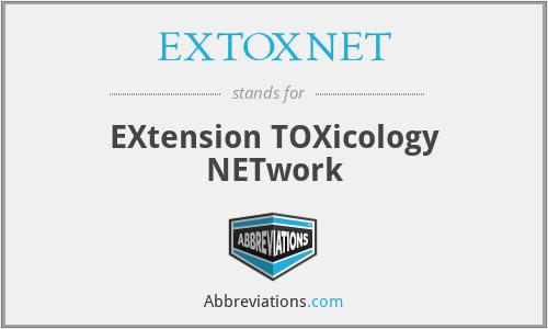 EXTOXNET - EXtension TOXicology NETwork