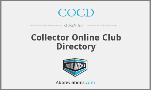 COCD - Collector Online Club Directory