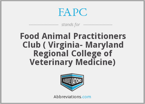 FAPC - Food Animal Practitioners Club ( Virginia- Maryland Regional College of Veterinary Medicine)