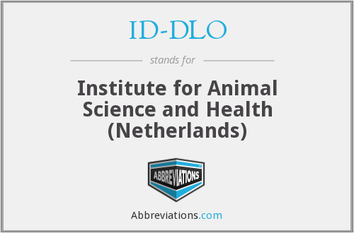 ID-DLO - Institute for Animal Science and Health (Netherlands)