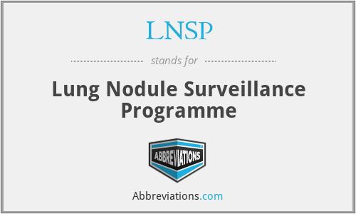 LNSP - Lung Nodule Surveillance Programme