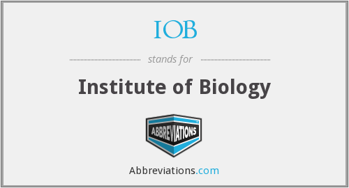 IOB - Institute of Biology