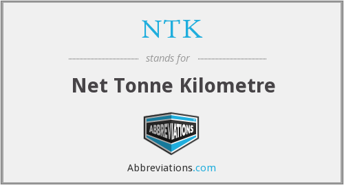 NTK - Net Tonne Kilometre