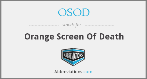 What does OSOD stand for?