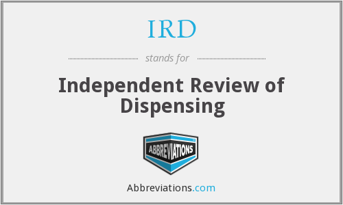 IRD - Independent Review of Dispensing