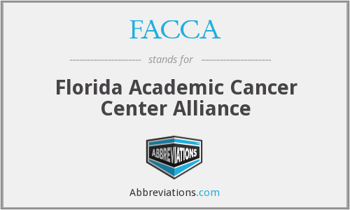 What does FACCA stand for?
