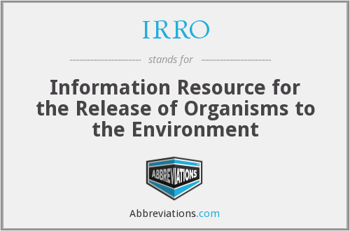 What does IRRO stand for?