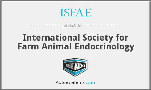 ISFAE - International Society for Farm Animal Endocrinology