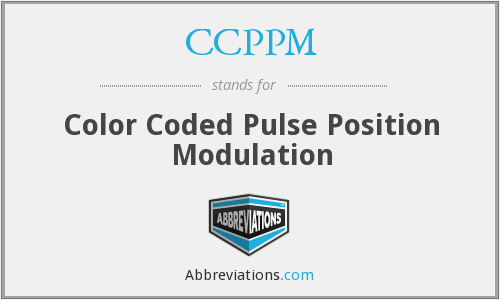 CCPPM - Color Coded Pulse Position Modulation