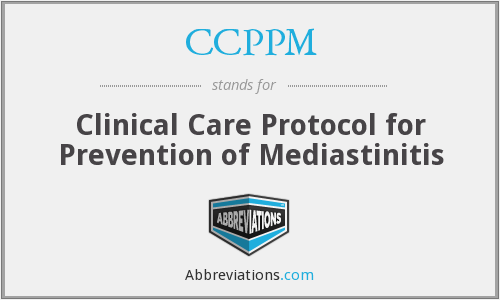 CCPPM - Clinical Care Protocol for Prevention of Mediastinitis