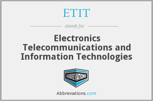 What does ETIT stand for?