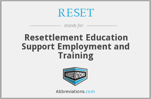 RESET - Resettlement Education Support Employment and Training