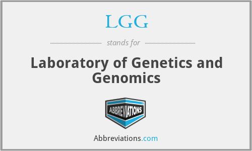 LGG - Laboratory of Genetics and Genomics
