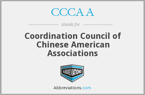 CCCAA - Coordination Council of Chinese American Associations