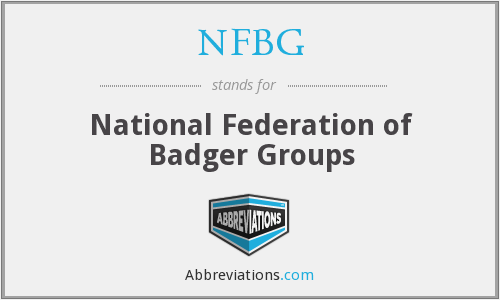 NFBG - National Federation of Badger Groups