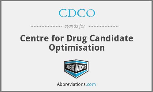 CDCO - Centre for Drug Candidate Optimisation