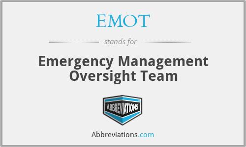 EMOT - Emergency Management Oversight Team