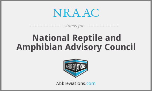 NRAAC - National Reptile and Amphibian Advisory Council