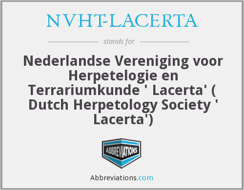 What does NVHT-LACERTA stand for?