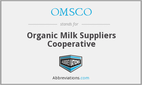 OMSCO - Organic Milk Suppliers Cooperative