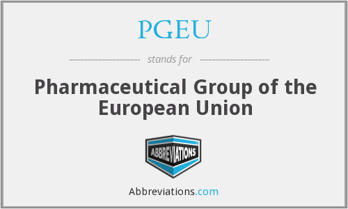 PGEU - Pharmaceutical Group of the European Union