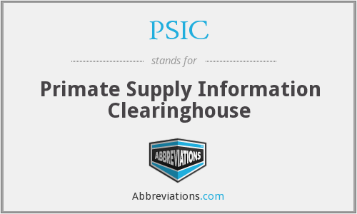 PSIC - Primate Supply Information Clearinghouse