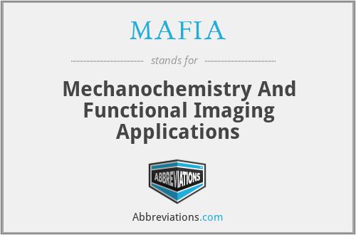 MAFIA - Mechanochemistry And Functional Imaging Applications