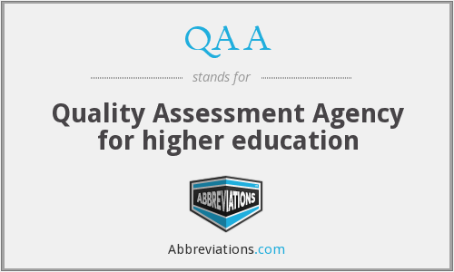 QAA - Quality Assessment Agency for higher education