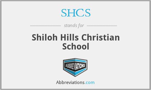 SHCS - Shiloh Hills Christian School