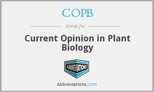COPB - Current Opinion in Plant Biology