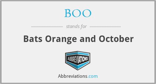BOO - Bats Orange and October