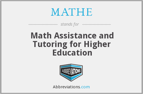 What does MATHE stand for?