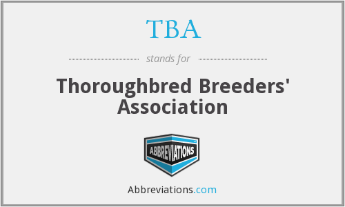 TBA - Thoroughbred Breeders' Association