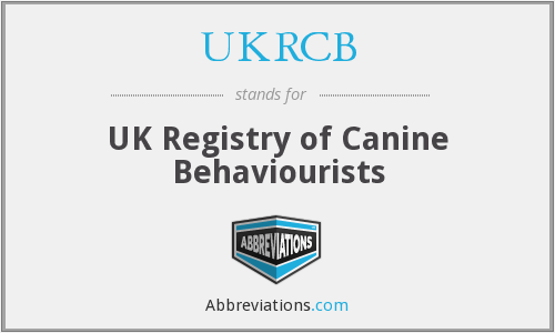 UKRCB - UK Registry of Canine Behaviourists