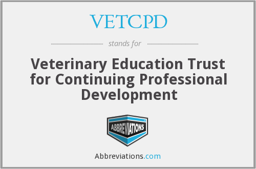 What does VETCPD stand for?