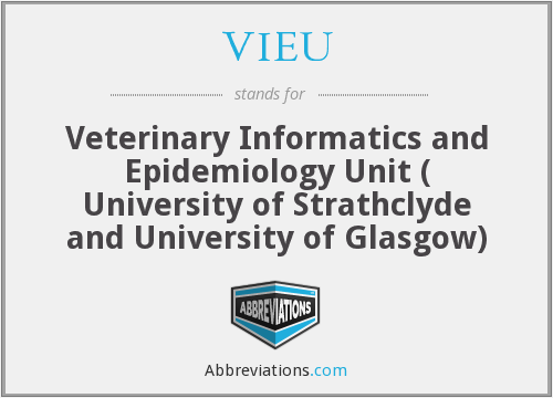 VIEU - Veterinary Informatics and Epidemiology Unit ( University of Strathclyde and University of Glasgow)