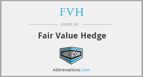 FVH - Fair Value Hedge