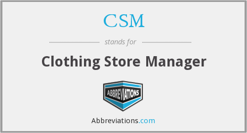 CSM - Clothing Store Manager
