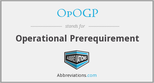 What does OPOGP stand for?