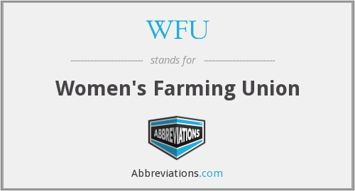 WFU - Women's Farming Union