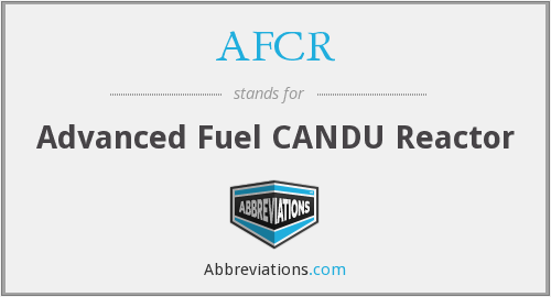 What does AFCR stand for?
