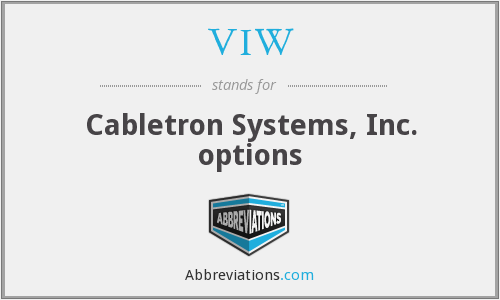 VIW - Cabletron Systems, Inc. options
