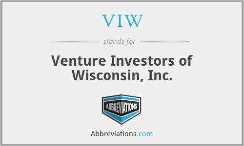 VIW - Venture Investors of Wisconsin, Inc.