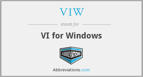 VIW - VI for Windows