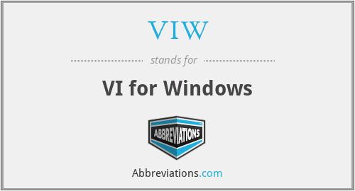 VIW - VI for Windows