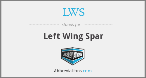 LWS - Left Wing Spar