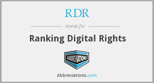 RDR - Ranking Digital Rights