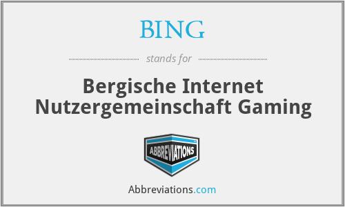 BING - Bergische Internet Nutzergemeinschaft Gaming