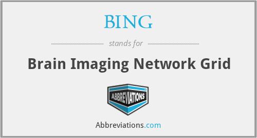 BING - Brain Imaging Network Grid